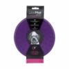 LickiMat Splash in Originalverpackung. Die Produktfarbe ist violett.